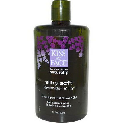 Kiss My Face, Silky Soft, Soothing Bath&Shower Gel, Lavender&Lily 473ml