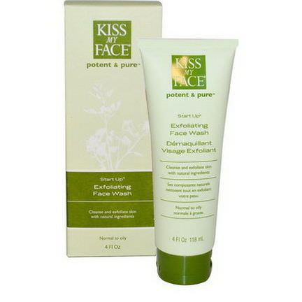 Kiss My Face, Start Up, Exfoliating Face Wash 118ml