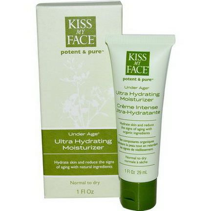 Kiss My Face, Under Age, Ultra Hydrating Moisturizer 29ml