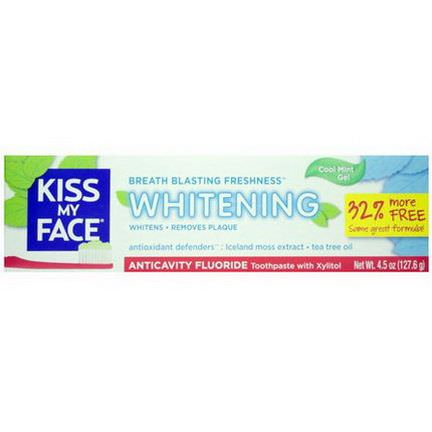 Kiss My Face, Whitening, Anticavity Fluoride Toothpaste, Cool Mint Gel 127.6g
