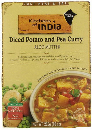 Kitchens of India, Aloo Mutter, Diced Potato and Pea Curry 285g