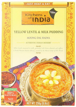 Kitchens of India, Moong Dal Halwa, Yellow Lentil&Milk Pudding 250g