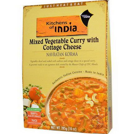 Kitchens of India, Navratan Korma, Mixed Vegetable Curry with Cottage Cheese 285g