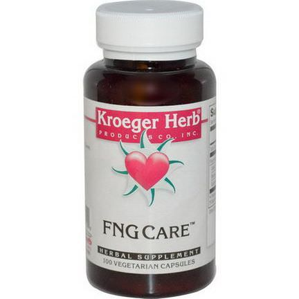 Kroeger Herb Co, FNG Care, 100 Veggie Caps