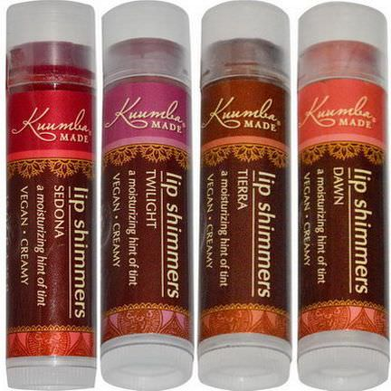 Kuumba Made, Lip Shimmers, 4 Pack 4.25g Each