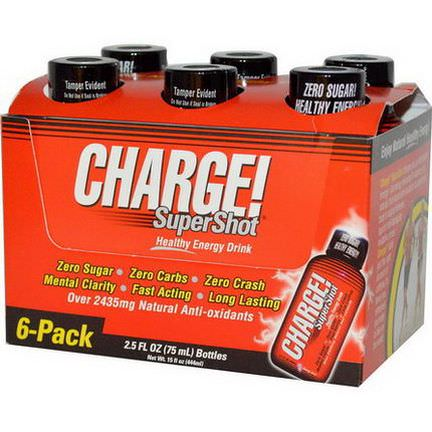 Labrada Nutrition, Charge! Super Shots, 6-Pack 75ml Each