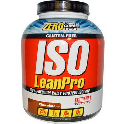 Labrada Nutrition, ISO LeanPro, 100% Premium Whey Protein Isolate, Chocolate 2268g