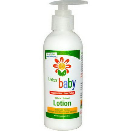 Lafe's Natural Body Care, Baby, Natural Lotion, Fragrance-Free 177ml