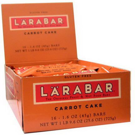 Larabar, Carrot Cake, 16 Bars 45g Per Bar