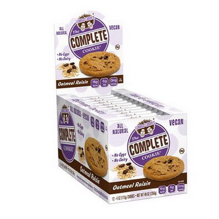 Lenny&Larry's, The Complete Cookie, Oatmeal Raisin, 12 Cookies 113g Each