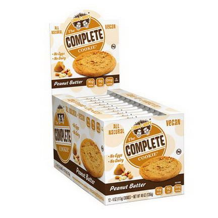 Lenny&Larry's, The Complete Cookie, Peanut Butter, 12 Cookies 113g Each