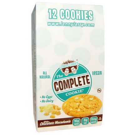 Lenny&Larry's, The Complete Cookie, White Chocolate Macadamia, 12 Cookies 113g Each