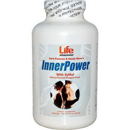 Life Enhancement, Durk Pearson&Sandy Shaw's, Inner Power with Xylitol Drink Mix, Cherry Flavored 513g