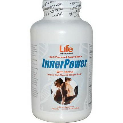 Life Enhancement, Durk Pearson&Sandy Shaw's, InnerPower with Stevia Drink Mix, Tropical Fruit-Flavored 549g