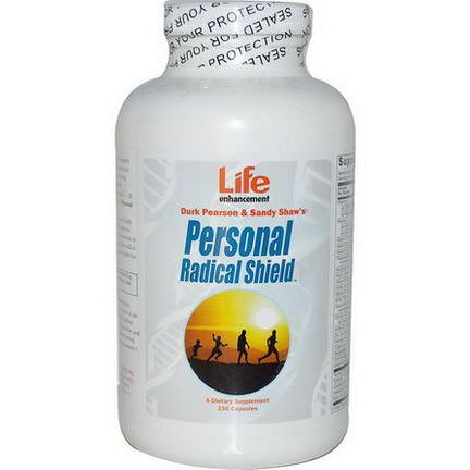Life Enhancement, Durk Pearson&Sandy Shaw's, Personal Radical Shield, 336 Capsules