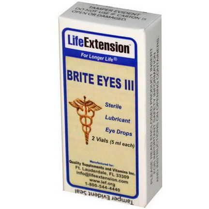 Life Extension, Brite Eyes III 5ml each