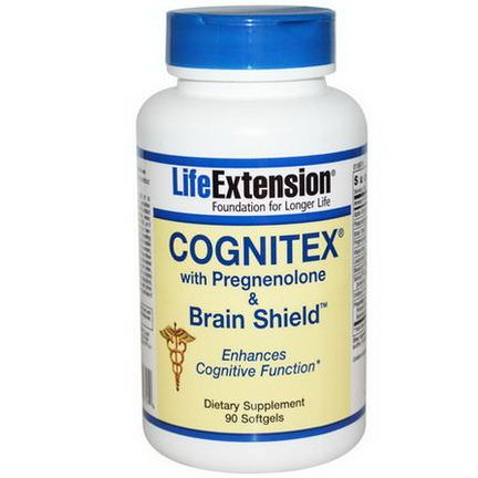 Life Extension, Cognitex with Pregnenolone&Brain Shield, 90 Softgels