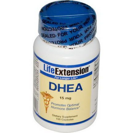 Life Extension, DHEA, 15mg, 100 Capsules