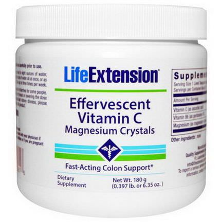 Life Extension, Effervescent Vitamin C - Magnesium Crystals 180g