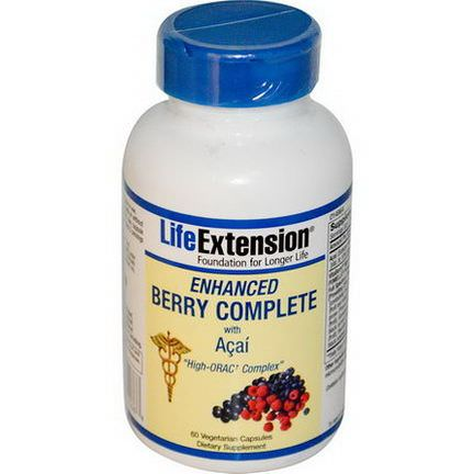 Life Extension, Enhanced Berry Complete, with Acai, 60 Veggie Caps