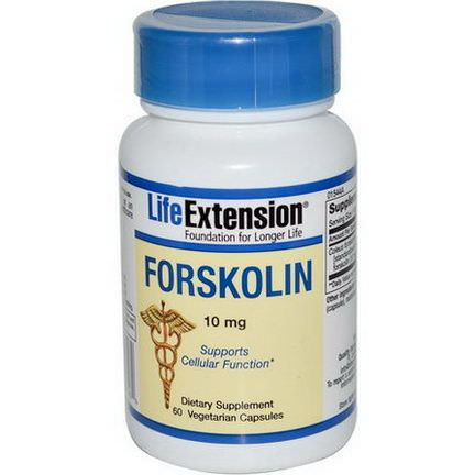 Life Extension, Forskolin, 10mg, 60 Veggie Caps
