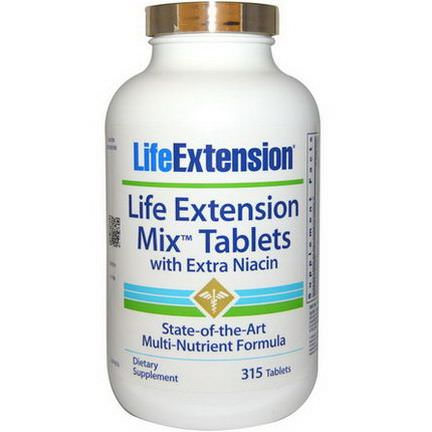 Life Extension, Mix Tablets With Extra Niacin, 315 Tablets