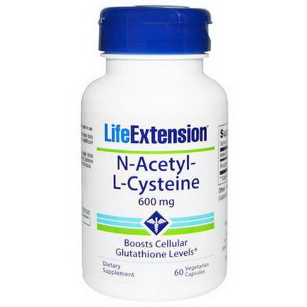 Life Extension, N-Acetyl-L-Cysteine, 600mg, 60 Veggie Caps