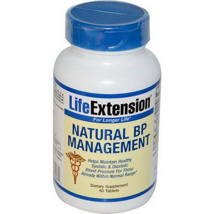 Life Extension, Natural BP Management, 60 Tablets