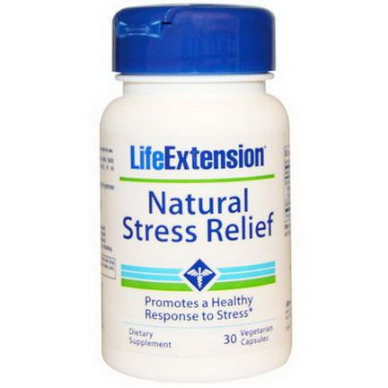 Life Extension, Natural Stress Relief, 30 Veggie Caps