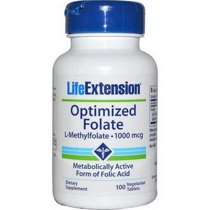 Life Extension, Optimized Folate, 1000mcg, 100 Veggie Tabs