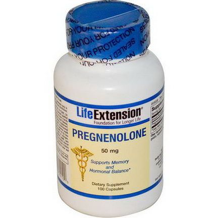 Life Extension, Pregnenolone, 50mg, 100 Capsules