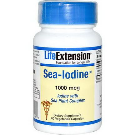 Life Extension, Sea-Iodine, 1000mcg, 60 Veggie Caps