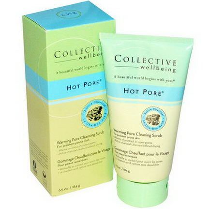 Life Flo Health, Collective Wellbeing, Hot Pore, Warming Pore Cleansing Scrub 184g