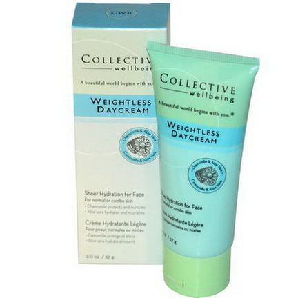 Life Flo Health, Collective Wellbeing, Weightless Daycream, Chamomile&Aloe Vera 57g