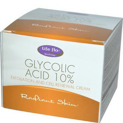 Life Flo Health, Glycolic Acid 10%, Exfoliation and Cell Renewal Cream 48g