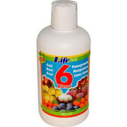 Life Time, 6 Blend Fruit Juice, 32 fl oz