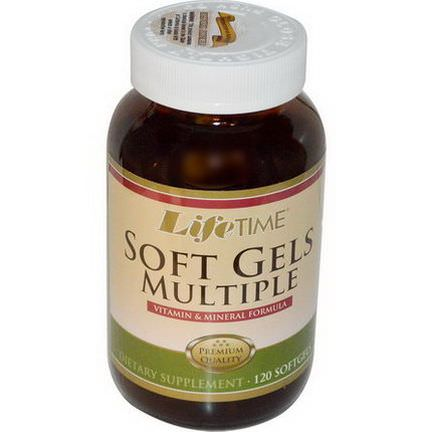 Life Time, Soft Gels Multiple, Vitamin&Mineral Formula, 120 Softgels