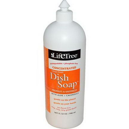 Life Tree, Dish Soap, Citrus Fresh 946ml