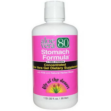 Lily of the Desert, Aloe Vera 80, Stomach Formula .95 L