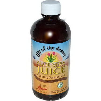 Lily of the Desert, Aloe Vera Juice, Inner Fillet 946ml