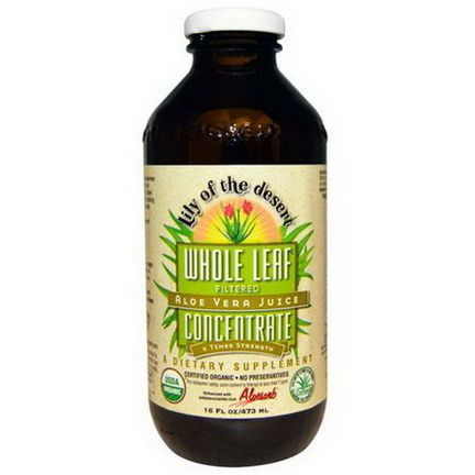 Lily of the Desert, Aloe Vera Juice, Whole Leaf Concentrate 473ml