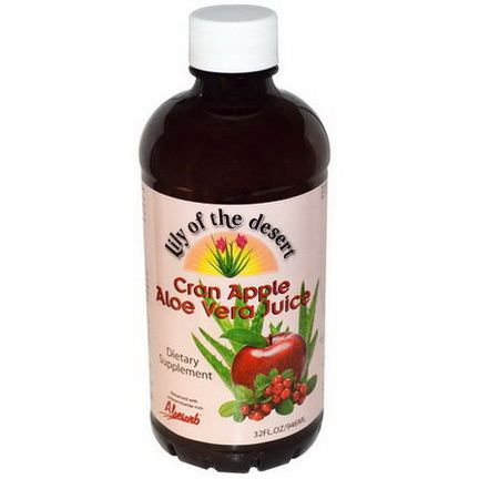 Lily of the Desert, Cran Apple Aloe Vera Juice 946ml