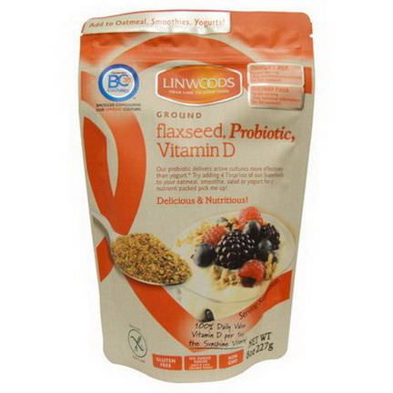 Linwoods, Ground Flax Seed, Probiotic, Vitamin D 227g