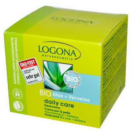 Logona Naturkosmetik, Daily Care, Skin Cream, Aloe&Verbena 100ml