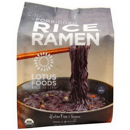 Lotus Foods, Organic Forbidden Rice Ramen, 4 Pack 283g