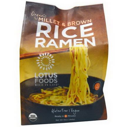 Lotus Foods, Organic Millet&Brown Rice Ramen, 4 Pack 283g