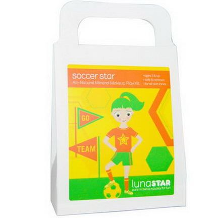 Luna Star Naturals, All-Natural Mineral Makeup Play Kit, Soccer Star, 4 Pieces