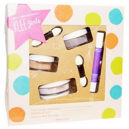 Luna Star Naturals, Klee Girls, Natural Mineral Makeup Kit, Glorious Afternoon, 4 Piece Kit