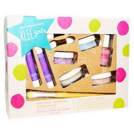 Luna Star Naturals, Klee Girls, Natural Mineral Makeup Kit, Up and Away, 7 Piece Kit