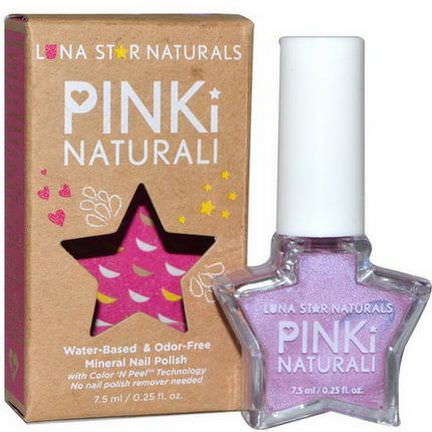 Luna Star Naturals, Pinki Naturali, Mineral Nail Polish, Hartford 7.5ml